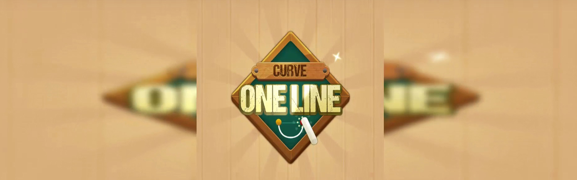 One Line Curve Drawing